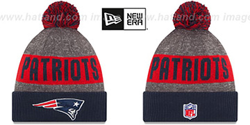 Patriots '2016 STADIUM' Navy-Red-Grey Knit Beanie Hat by New Era