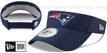 Patriots '2017 NFL TRAINING VISOR' Navy by New Era