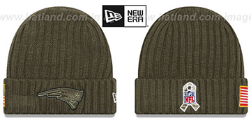Patriots '2017 SALUTE-TO-SERVICE' Knit Beanie Hat by New Era
