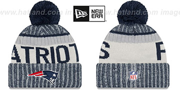 Patriots '2017 STADIUM BEANIE' Navy Knit Hat by New Era