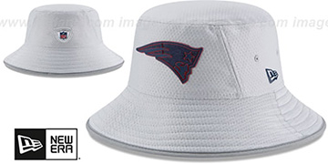 Patriots 2018 NFL TRAINING BUCKET Grey Hat by New Era