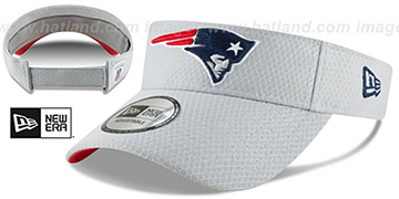 Patriots 2018 NFL TRAINING VISOR Grey by New Era