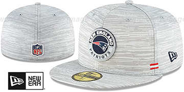 Patriots 2020 ONFIELD STADIUM Heather Grey Fitted Hat by New Era