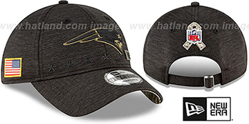 Patriots 2020 SALUTE-TO-SERVICE STRAPBACK ST Black Hat by New Era