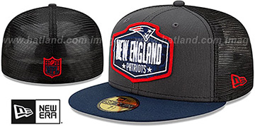Patriots '2021 NFL TRUCKER DRAFT' Fitted Hat by New Era