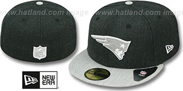 Patriots 2T-HEATHER ACTION Charcoal-Grey Fitted Hat by New Era