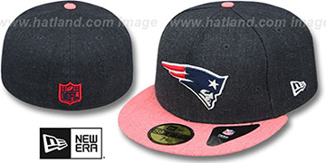 Patriots '2T-HEATHER ACTION' Navy-Red Fitted Hat by New Era