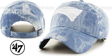 Patriots 'ACID WASH STRAPBACK' Hat by Twins 47 Brand