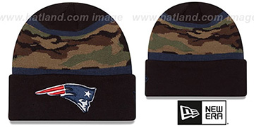 Patriots ARMY CAMO FILLZ Knit Beanie Hat by New Era