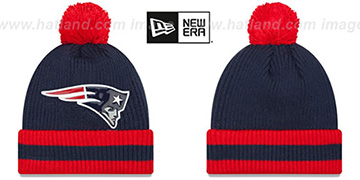 Patriots 'CHILLER FILLER BEANIE' Navy-Red by New Era