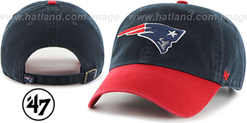 Patriots 'CLEAN-UP STRAPBACK' Navy-Red Hat by Twins 47 Brand