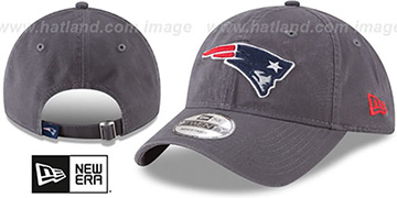 Patriots CORE-CLASSIC STRAPBACK Charcoal Hat by New Era