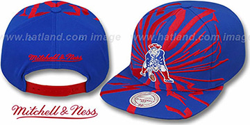 Patriots EARTHQUAKE SNAPBACK Royal Hat by Mitchell & Ness