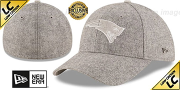 Patriots 'EK MELTON FABRIC MIX' Grey Hat by New Era