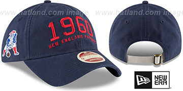 Patriots ESTABLISHED YEAR STRAPBACK Navy Hat by New Era