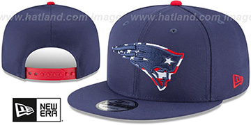 Patriots FLAG FILL INSIDER SNAPBACK Navy Hat by New Era