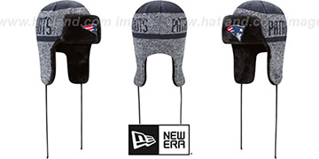 Patriots 'FROSTWORK TRAPPER' Navy Knit Hat by New Era