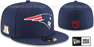 Patriots GILDED TURN Navy Fitted Hat by New Era