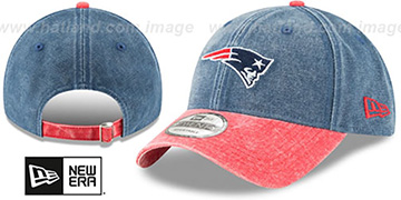 Patriots GW RUGGED CANVAS STRAPBACK Navy-Red Hat by New Era