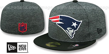 Patriots 'HEATHER-HUGE' Grey-Black Fitted Hat by New Era
