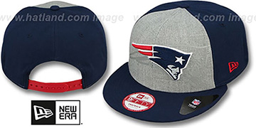Patriots 'HEATHER-REFLECT SNAPBACK' Grey-Navy Hat by New Era