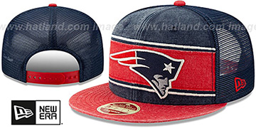 Patriots HERITAGE-BAND TRUCKER SNAPBACK Navy-Red Hat by New Era