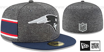 Patriots HOME ONFIELD STADIUM Charcoal-Navy Fitted Hat by New Era
