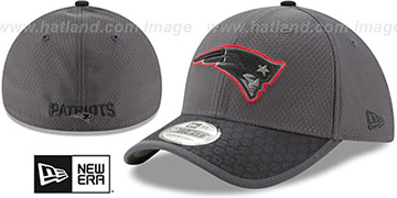Patriots 'HONEYCOMB STADIUM FLEX' Charcoal Hat by New Era
