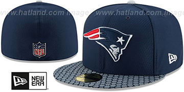 Patriots 'HONEYCOMB STADIUM' Navy Fitted Hat by New Era