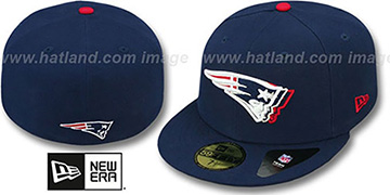 Patriots 'ILLUSION' Navy Fitted Hat by New Era