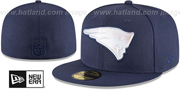Patriots 'IRIDESCENT HOLOGRAM' Navy Fitted Hat by New Era