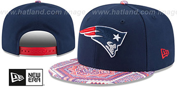 Patriots 'KALEIDOVIZE SNAPBACK' Navy Hat by New Era