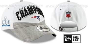 Patriots LOCKER ROOM SUPER BOWL LIII CHAMPS Strapback Hat by New Era