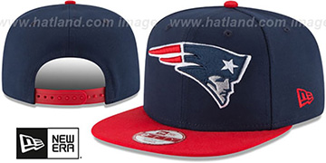 Patriots 'LOGO GRAND REDUX SNAPBACK' Navy-Red Hat by New Era