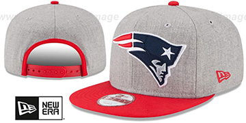Patriots 'LOGO GRAND SNAPBACK' Grey-Red Hat by New Era