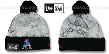 Patriots 'MARBLE' Knit Beanie Hat by New Era