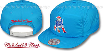 Patriots NEON SNAPBACK Blue Hat by Mitchell and Ness