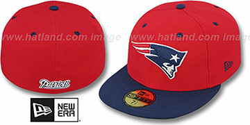 Patriots 'NFL 2T-TEAM-BASIC' Red-Navy Fitted Hat by New Era