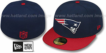Patriots 'NFL JERSEY-BASIC' Navy-Red Fitted Hat by New Era