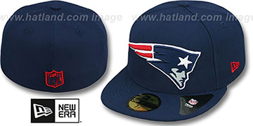 Patriots NFL MIGHTY-XL Navy Fitted Hat by New Era