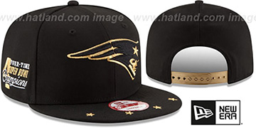 Patriots 'NFL STAR-TRIM SNAPBACK' Black Hat by New Era