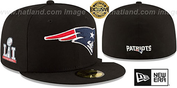 Patriots 'NFL SUPER BOWL LI' Black Fitted Hat by New Era