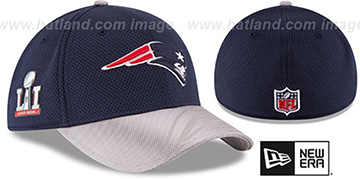 Patriots 'NFL SUPER BOWL LI ONFIELD FLEX' Hat by New Era