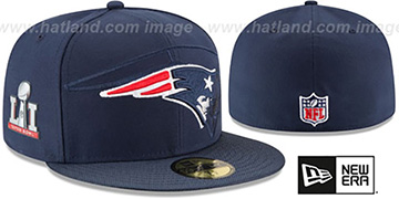Patriots 'NFL SUPER BOWL LI ONFIELD' Navy Fitted Hat by New Era