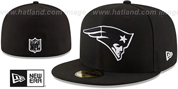 Patriots NFL TEAM-BASIC Black-White Fitted Hat by New Era