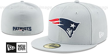 Patriots NFL TEAM-BASIC Grey Fitted Hat by New Era