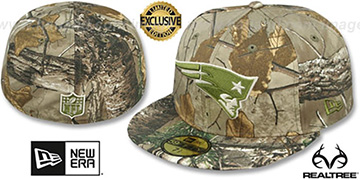 Patriots NFL TEAM-BASIC Realtree Camo Fitted Hat by New Era