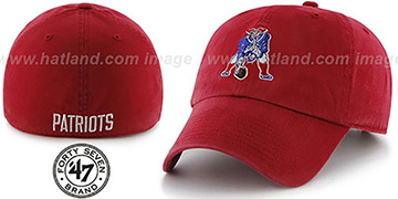 Patriots 'NFL THROWBACK FRANCHISE' Red Hat by 47 Brand