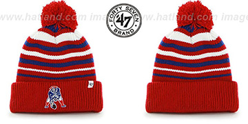 Patriots NFL THROWBACK 'INCLINE' Knit Beanie Hat by 47 Brand