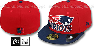 Patriots 'NFL-TIGHT' Red-Navy Fitted Hat by New Era